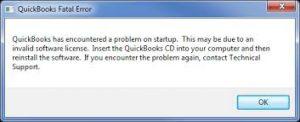 QuickBooks Error 3371 status code 11118: QuickBooks Fatal Error