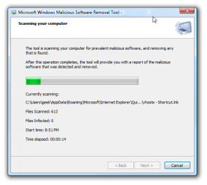 Perform a Malware Scan of your PC Screenshot