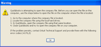 QuickBooks Error 6176 Error Message Snapshot