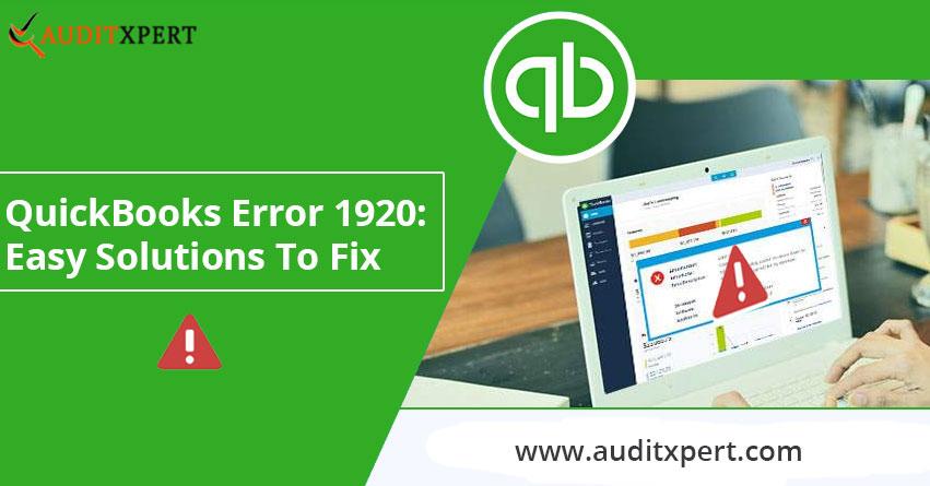 QuickBooks error 1920