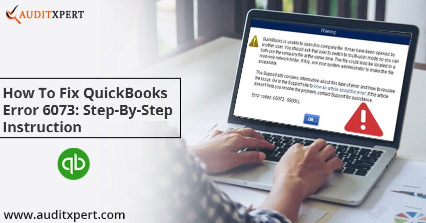 QuickBooks error 6073