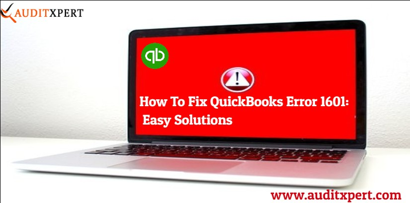 QuickBooks error 1601