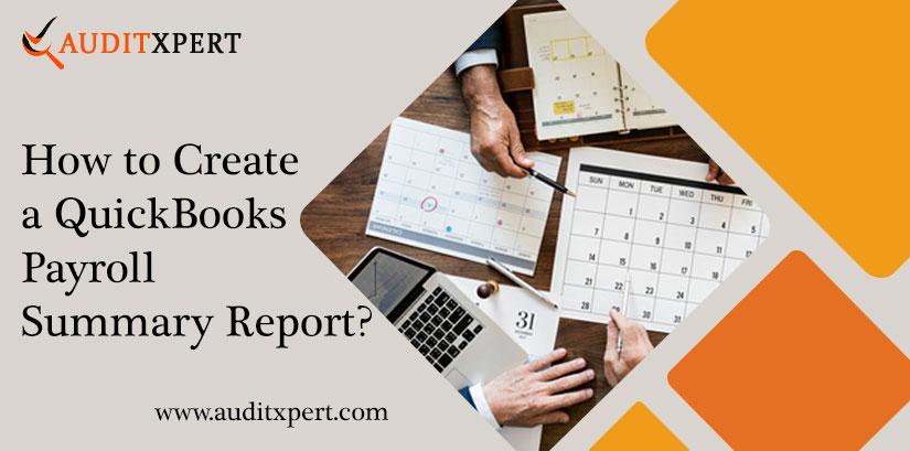 QuickBooks Payroll Summary Report (Employees Earning Data)