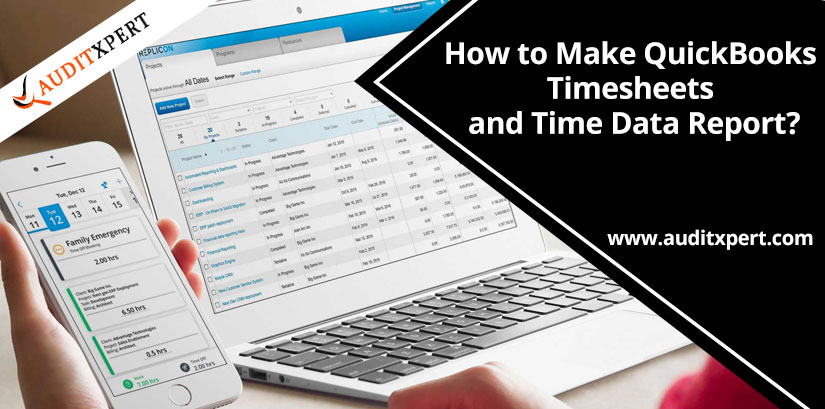 How to Make QuickBooks Timesheets and Time Data Report?