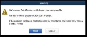 Fix QuickBooks Error 6150, -1006