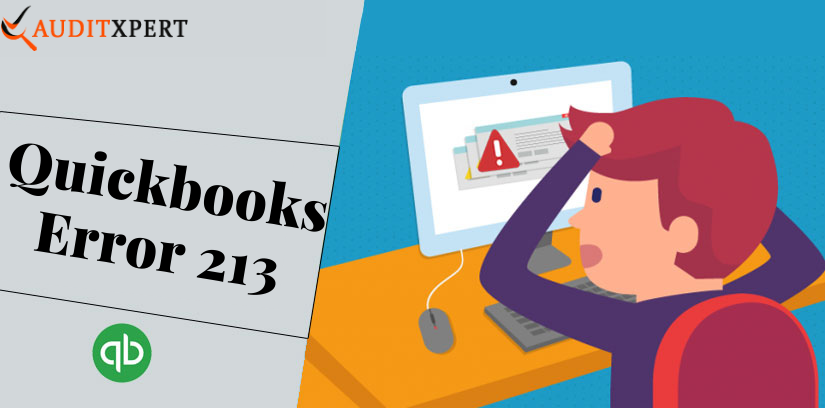 Quickbooks error 213 - How to resolve it
