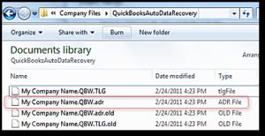 QuickBooks Auto Data Recovery 3: Snapshot