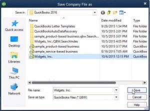 Restore a Backup Company File- Step 6 Snapshot