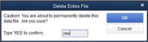 Restore a Backup Company File- Step 8 Snapshot
