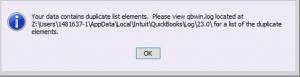Quickbooks error 213