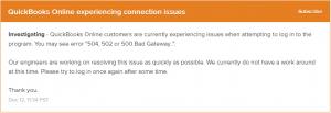 QuickBooks Error 502: Bad Gateway Error