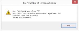 QuickBooks error 503