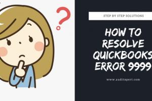 How To Fix QuickBooks Error 9999