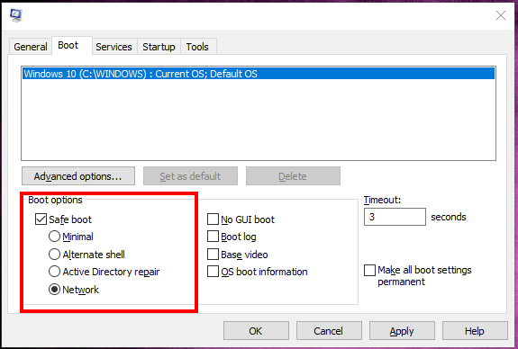 Downloading the Updates using Safe Mode Snapshot